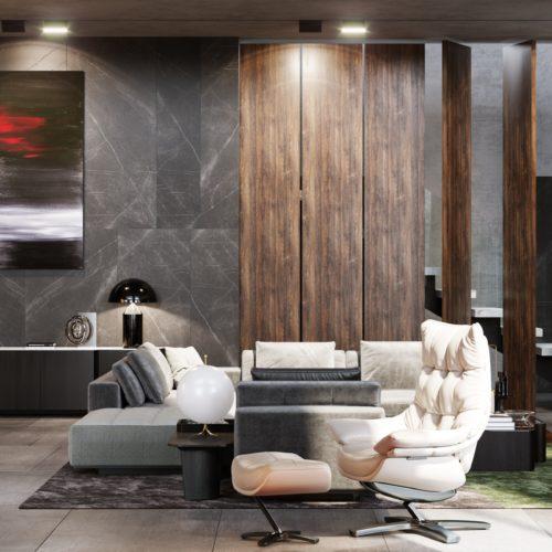 Гостиная дома M-HOUSE