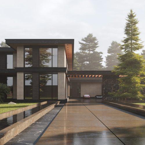 Архитектура дома R-HOUSE